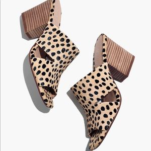 Madewell Tessa Mule in Spotted Calf Hair